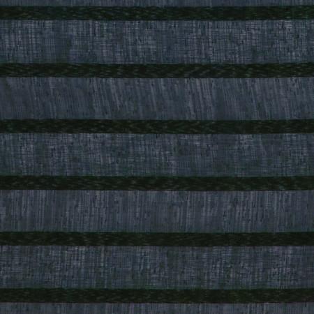 Eroica Fancy Stripe Sheer Graphite Fabric