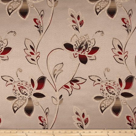 Eroica Glamour Jacquard Sangria Bronze Fabric By The Yard