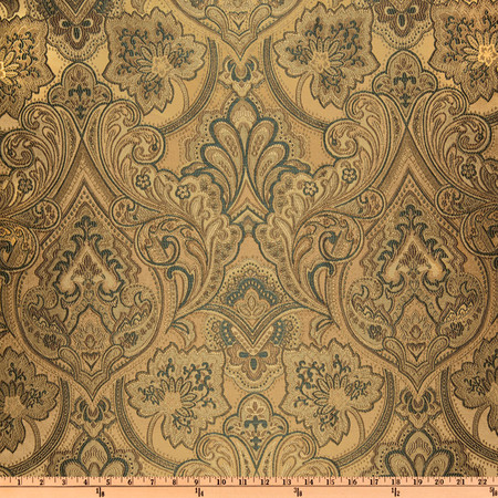 Eroica Hollyhock Damask Jacquard Antique Fabric