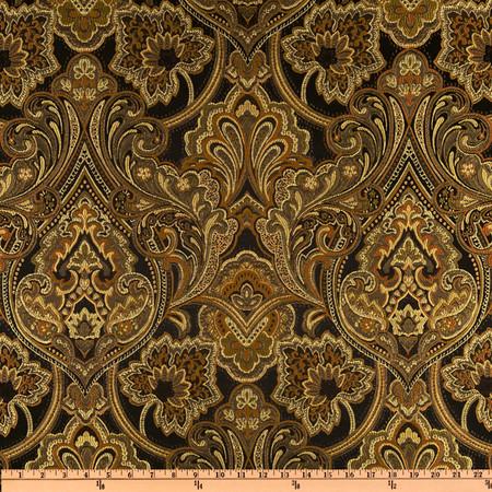 Eroica Hollyhock Damask Jacquard Storm Fabric