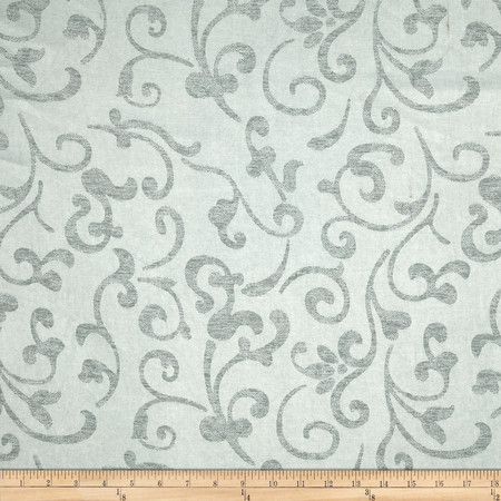 Eroica In Motion Damask Jacquard Silver Fabric