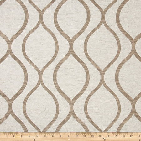 Eroica Lancaster Jacquard Beige Fabric By The Yard