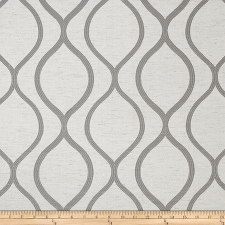 Eroica Lancaster Jacquard Platinum Fabric By The Yard