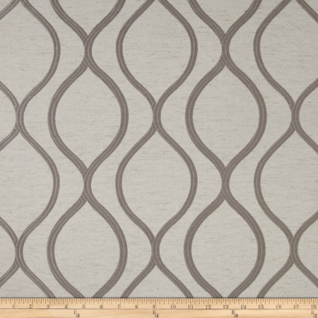 Eroica Lancaster Jacquard Silver Fabric By The Yard