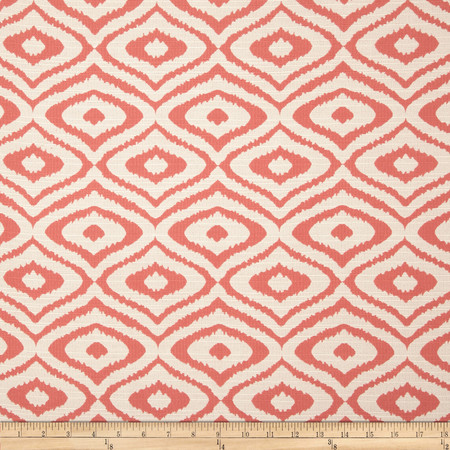 Eroica Native Jacquard Coral Fabric