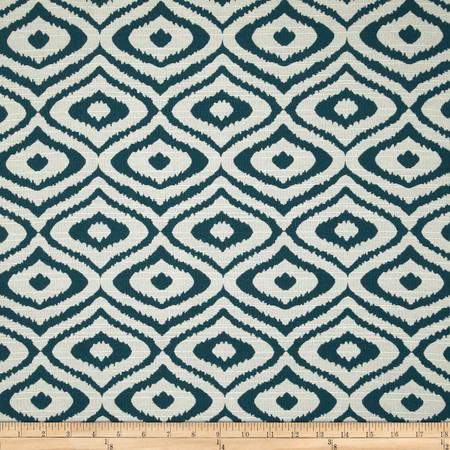 Eroica Native Jacquard Teal Fabric By The Yard