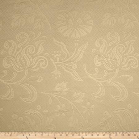 Eroica Positano Floral Matelasse Taupe Fabric