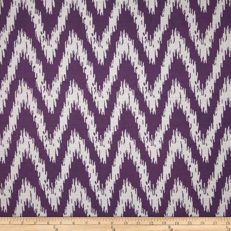 Eroica Spear Jacquard Eggplant Fabric