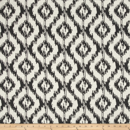 Eroica Tribal Jacquard Charcoal Fabric