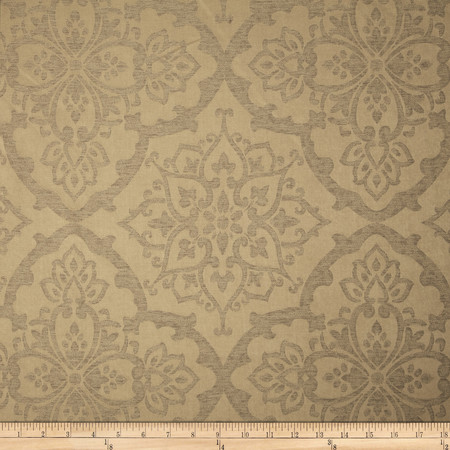 Eroica Waltz Damask Jacquard Bronze Fabric By The Yard