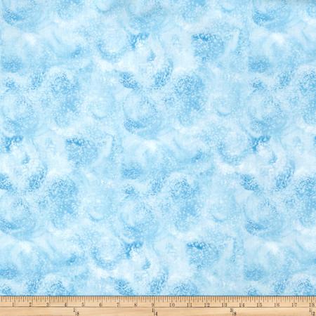 Eskimo Snow Swirl Light Blue Fabric By The Yard