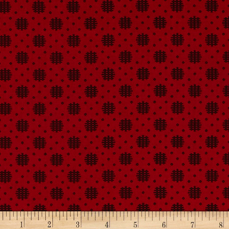 Essentials 10 Woven Dot Red Fabric