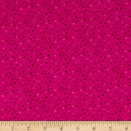 Essentials Brights Petite Dots Dark Pink Fabric By The Yard