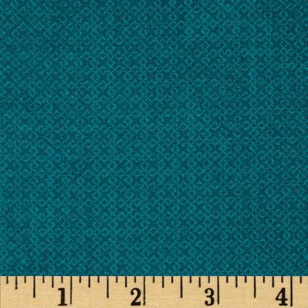 Essentials Criss-Cross Texture Teal Fabric