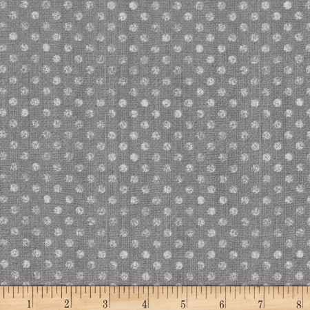 Essentials Dotsy Dark Gray Fabric By The Yard