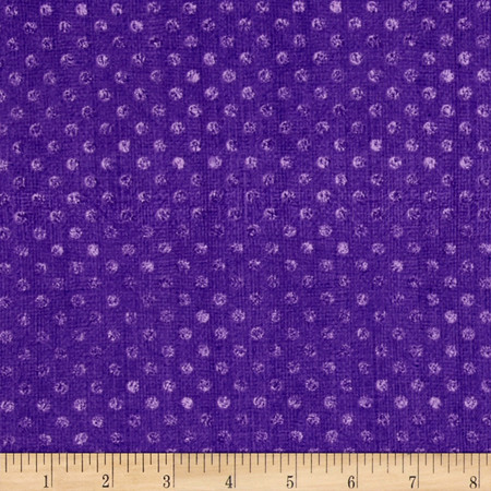 Essentials Dotsy Dark Purple Fabric By The Yard