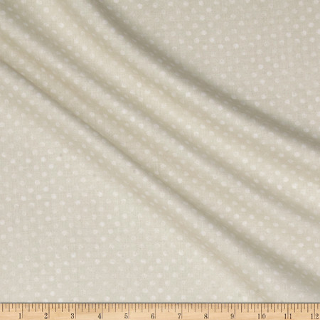 Essentials Dotsy Ivory Fabric By The Yard