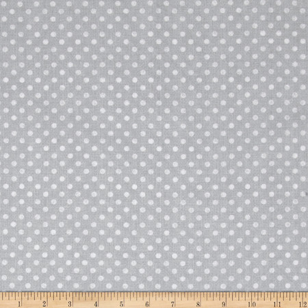 Essentials Dotsy Light Gray Fabric By The Yard