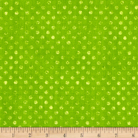 Essentials Dotsy Lime Green Fabric By The Yard