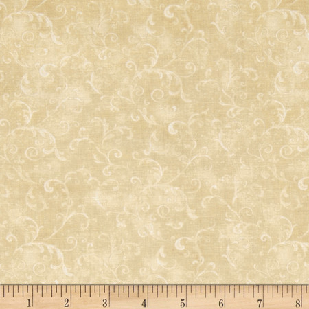 Essentials Filigree Tan Fabric By The Yard
