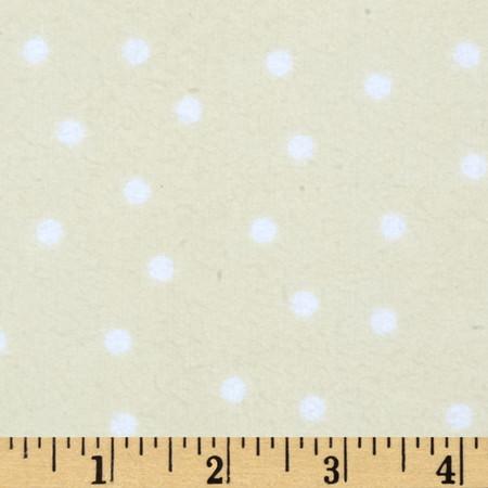 Essentials Flannel A Dot is a Dot Dark Cream Fabric