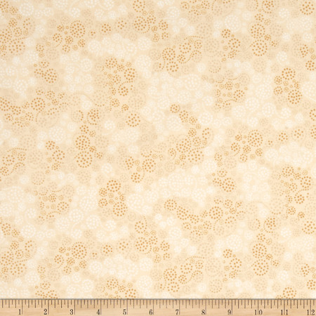 Essentials Flannel Sparkles Tan Fabric By The Yard
