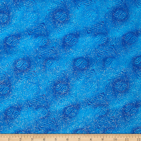 Essentials Glitter Blue Fabric