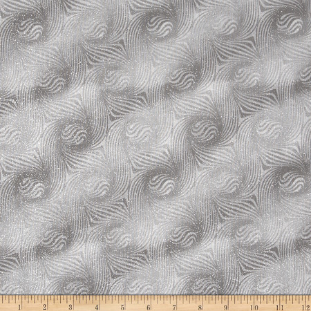 Essentials Glitter Grey Fabric