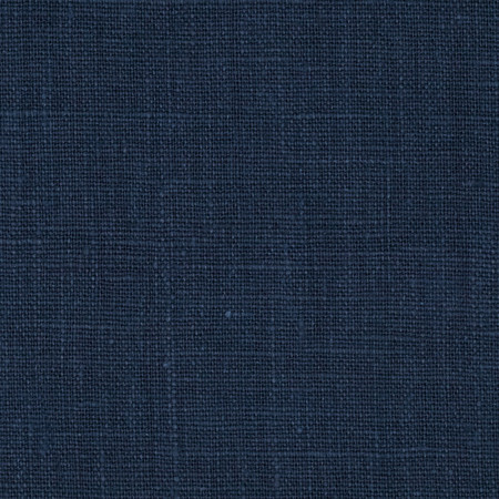 European 100% Washed Linen Navy Fabric By The Yard