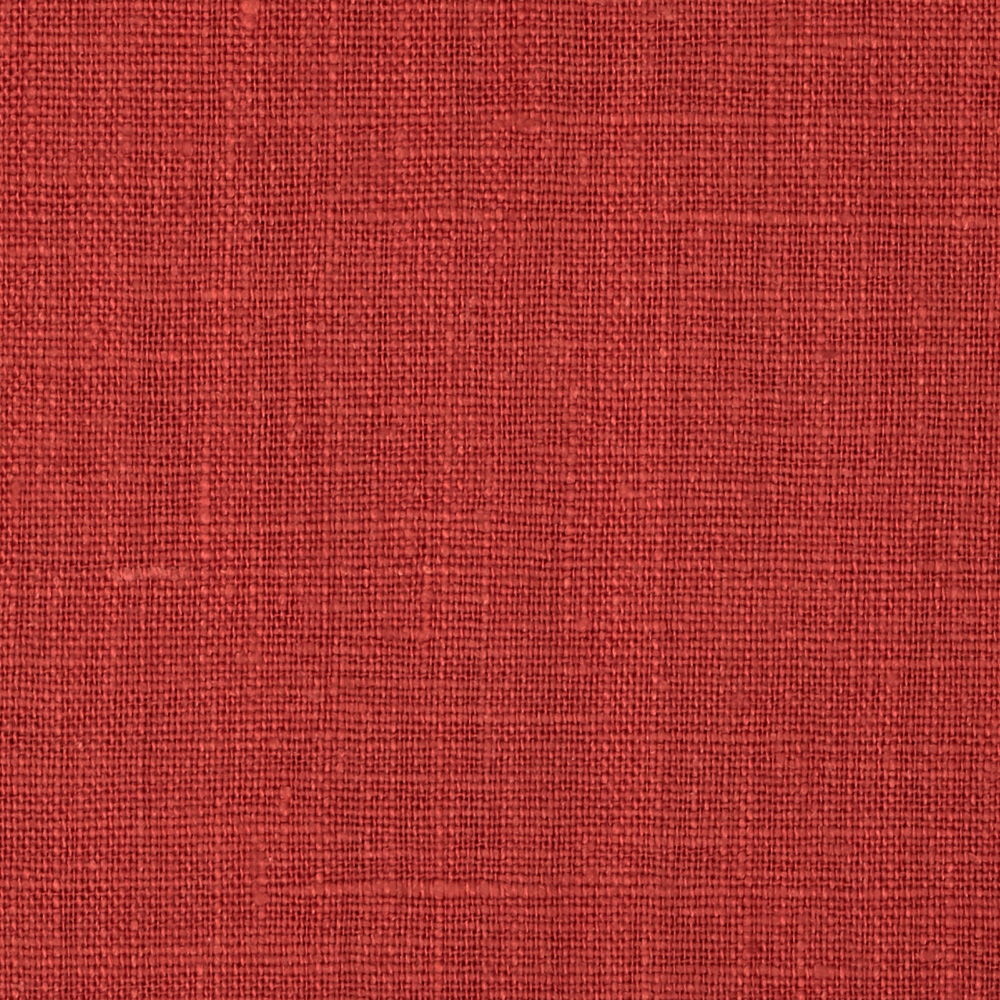 European 100% Washed Linen Ruby Fabric By The Yard