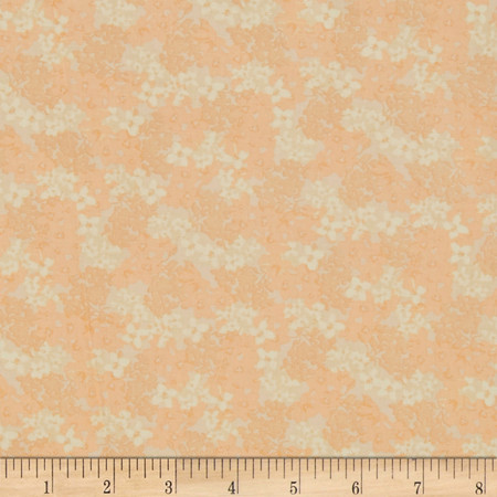 Eva's Bloom Soft Apricot Fabric By The Yard