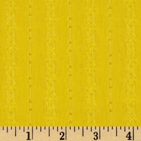 Eyelet Jersey Knit Yellow Fabric