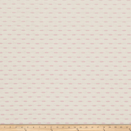Jacquard Agena Cotton Pink Fabric By The Yard