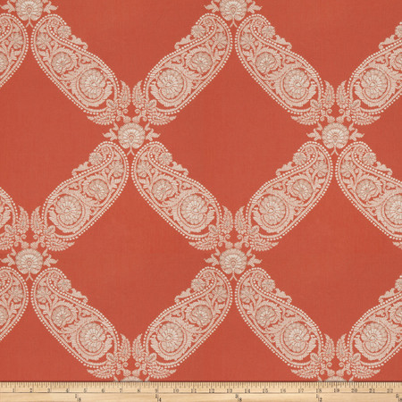 Jacquard Saint Maurice Terra Cotta Fabric By The Yard