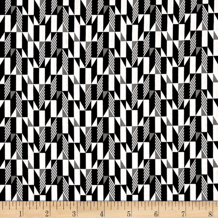 Fade to Black Blocks Black Fabric By The Yard