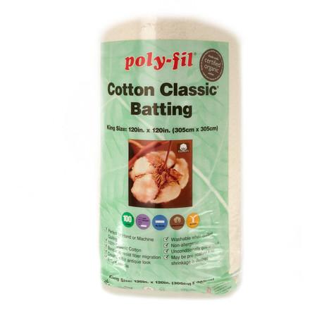 Fairfield Organic Cotton Classic Batting King 120'' X 120''