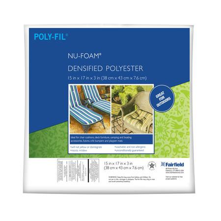 Fairfield Poly-Fil Nu-Foam 15'' x 17'' x 3