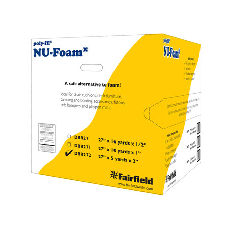 Fairfield Poly-Fil Nu-Foam 27'' x 5yds x 2''  Roll/Box