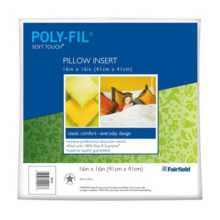 Fairfield Soft Touch Supreme Poly-Fil Pillow 16'' Square