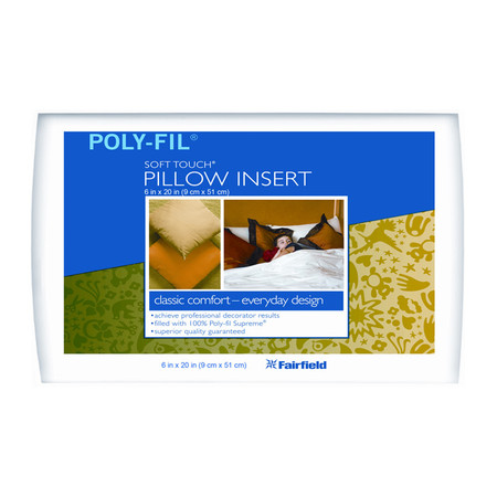 Fairfield Soft Touch Supreme Poly-Fil Pillow 6'' x 20'' Neckroll