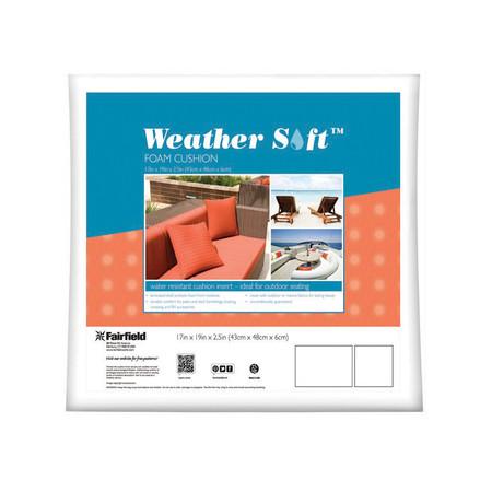 "Fairfield Weather Soft Outdoor Cushion 17'' x 19'' x 2.5"" White"
