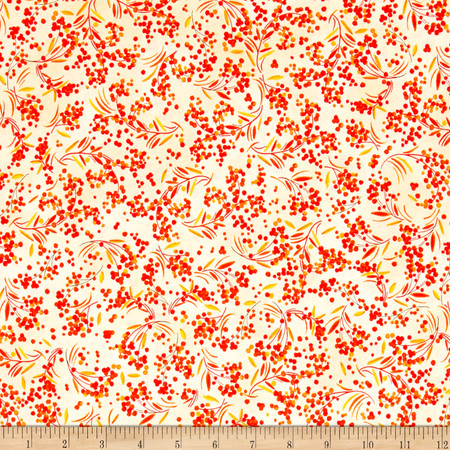 Fall Feast Berries Butter Fabric By The Yard