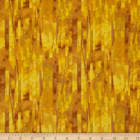 Fall Feast Tree Dark Gold Fabric By The Yard