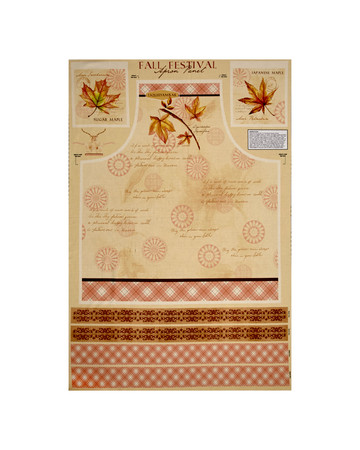 Fall Festival Leaf Apron 24 In. Panel Cream Fabric By The Yard
