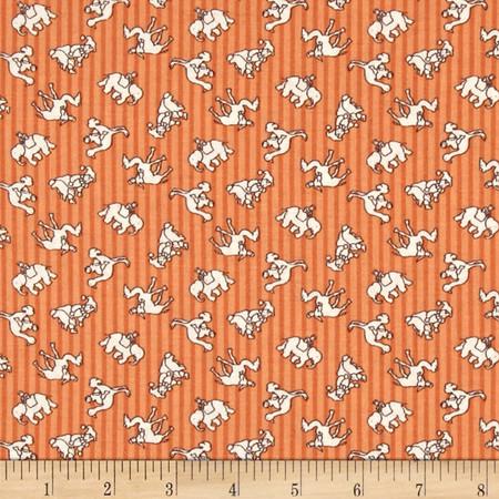 Fall Frolic Circus Toss Orange Fabric