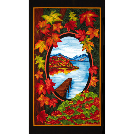 Fall Reflections 24 In. Panel Multi Fabric