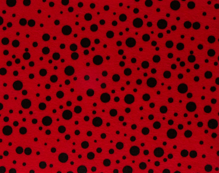 Fanci Felt 9 x 12'' Craft Cut Random Dots Red Fabric