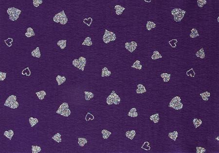 Fanci Felt 9'' x 12'' Craft Cut Twinkle Heart Orchid Fabric