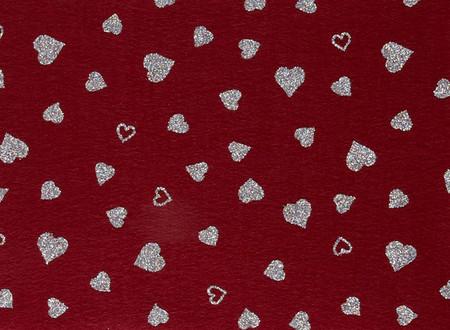 Fanci Felt 9'' x 12'' Craft Cut Twinkle Heart Ruby Fabric