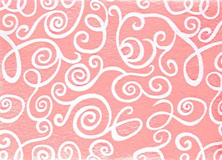 Fanci Felt 9 x 12'' Craft Cut White Swirl Baby Pink Fabric